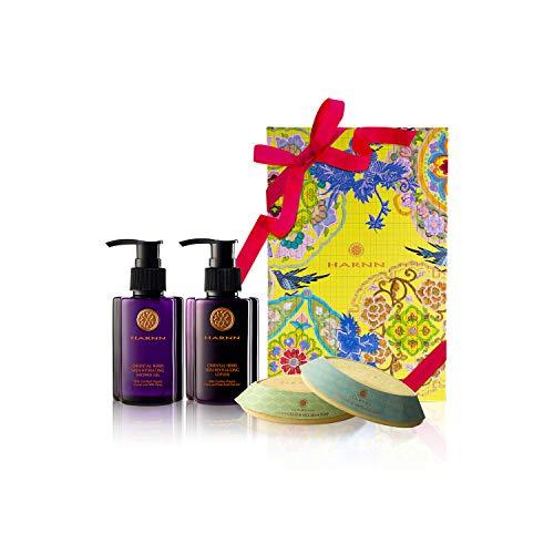 COFFRET CADEAUX, HARNN Natural Body Care Set – ORIENTAL HERBS I - gel douche, lotion corporelle, savons (CITRONELLE, LIMETTE & MENTHE)