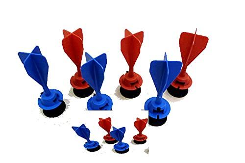 GP_0008 Armbrust Ersatzpfeile Gapola fünf rote und fünf Blaue