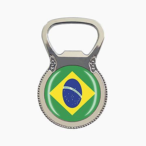 Magnete da frigorifero in stile bandiera nazionale Brasile con magnete da viaggio souvenir regalo birra apribottiglie collezione casa cucina frigorifero decorazione magnete adesivo magnetico