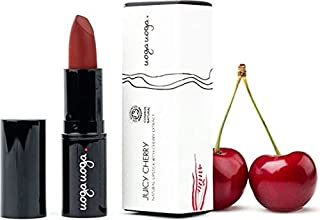 UOGA UOGA - Organic Lipstick Juicy Cherry - Cherry Red - Colorants extracted from Fruit - Nourishing and protective - 100% natural - Certified Cosmos Natural - 4 g