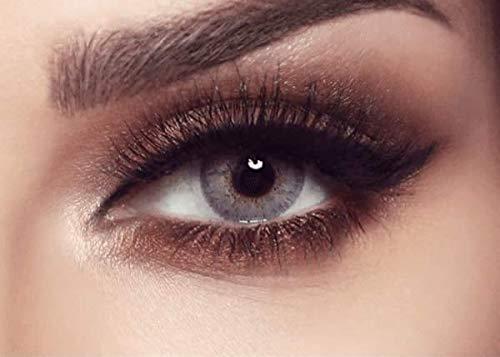 """Bella - Natürliche farbige Monatslinsen (stark deckend) ohne Stärke in Farbe """"ELITE Gray/Beige"""" grau - Hochwertige graue Farblinsen Kontaktlinsen farbig ohne Dioptrien (100% natürlich & weich) -1 Paar"""