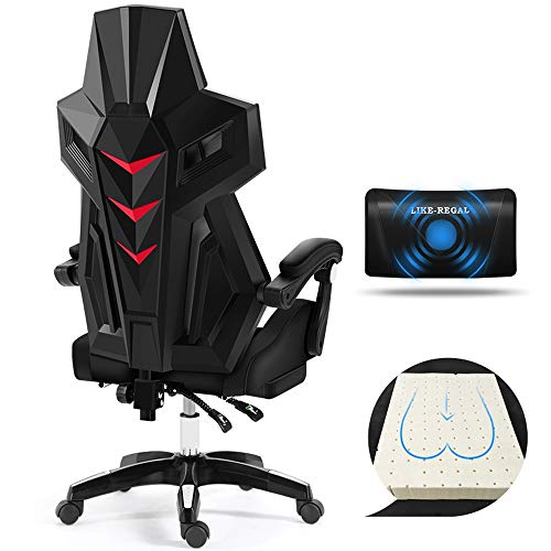 YSXCHZC Gaming Chair, Ergonomische Esports Swivel Chair,Racing Style Pc Game Chair,Computer Office/Home Recliner Verstelbaar met Hoofdsteun,Lumbar Support,Footrest