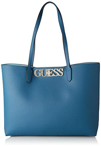 Guess Damen Uptown Chic Barcelona Tote Bag, Blau (Ocean), 13x29x42 Centimeters