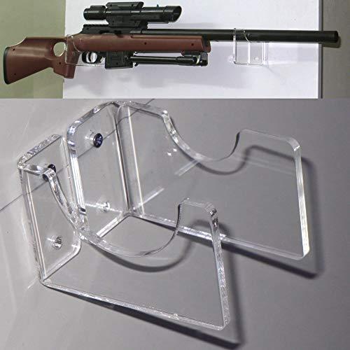 NO LOGO L-Yune, Holder Rifle acrílico/de mosquete Soportes/Rifle de Montaje en Pared Pantalla/Pistola Arma/Lucha del palillo/Par