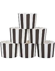 webake muffinki papierowe w kolorze białym i czarnym, 50 sztuk do muffinek Bronnie Cupcake