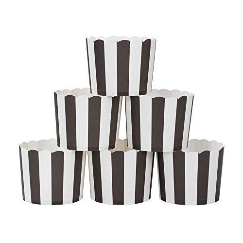webake Muffin Papierförmchen in Weiß und Schwarz 50 Stück für Muffin Bronnie Cupcake