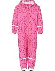 Playshoes Regen-Overall Herzchen Allover Pantalones Impermeable para Niñas