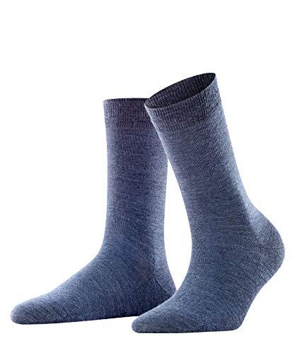 Falke Damen Socken Softmerino W SO-47488, Blau (Dark Blue Melange 6688), 39-40