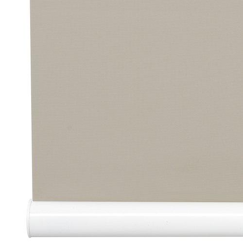 Liedeco Mittelzugrollo, Softrollo Tageslicht | Klemmträger, Montage ohne Bohren B 80 x H 130 | caffee Latte, beige