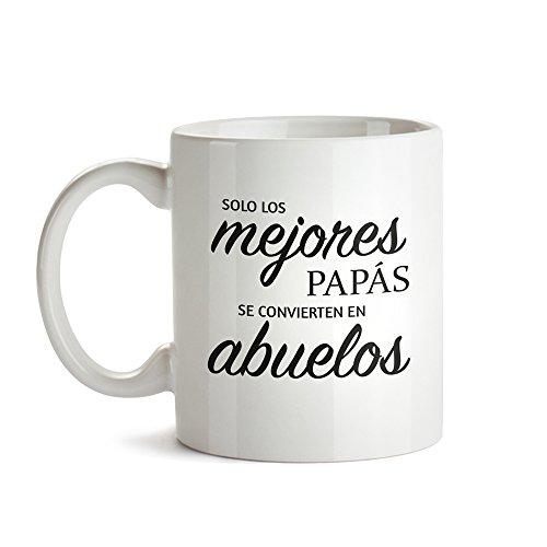 Taza – Taza de Café Blanca con Mensaje – Taza de Graduación para Abuelos – Taza de Café como Regalo del Día del Padre – Regalo Ideal para Abuelos Primerizos – Regalos Originales para Hombres