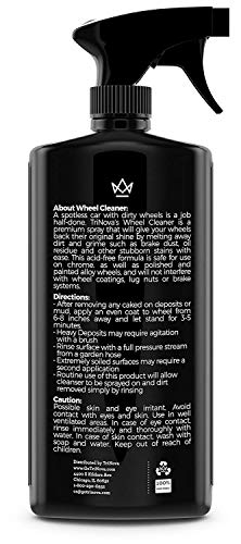 TriNova Wheel Cleaner Rim Cleaning Spray - Remove Tire Dirt, Oil Residue, Dust & More - Restores Shine & Clears Stains - Polished, Painted Alloy, Chrome Wheels. 18 OZ