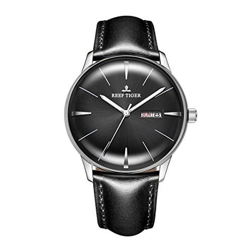 REEF TIGER Herren Uhr analog Automatik mit Leder Armband RGA8238-YBBH