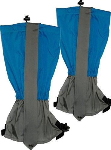 Outdoor saxx® – Paire de guêtres   Uni Taille imperméable résistant   pour randonnée, ski, Maquis Bottes de protection de l'eau abweisend   Lot de 2, bleu
