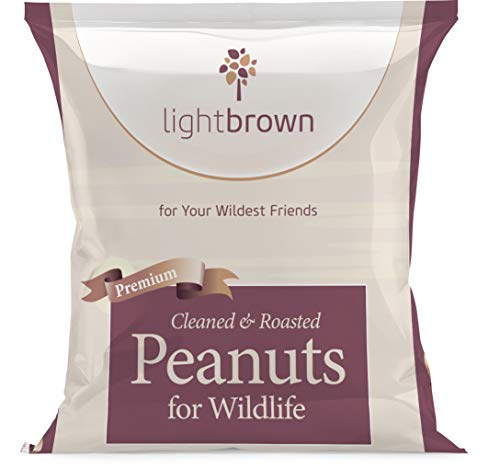 lightbrown Roasted & Cleaned 15LB Premium Peanuts for Birds and Wildlife. No Mess Wholesome Nuts. The Best Bird Seed for Wild Birds! (15)