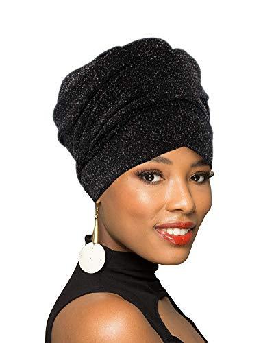 Turbante para la cabeza, bufanda africana larga, turbante chal para el pelo bohemio