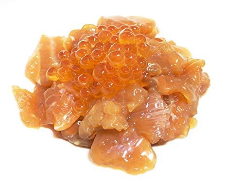 黒帯 サーモン塩辛 醤油漬け 北海道 サーモン ルイベ (いくら入 150g×2パック)