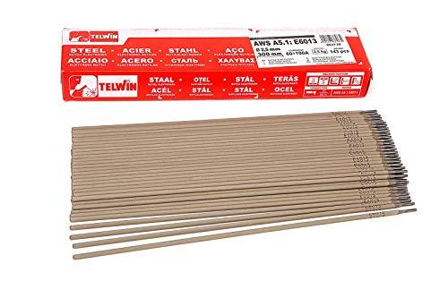 Telwin Rutilo Electrodos de soldadura E 6013 Ø 2,5 mm x 300 mm. 143 Piezas