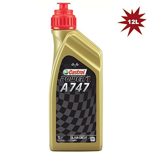 Castrol A747 2T Racing Engine Oil 12x1L = 12 Litre