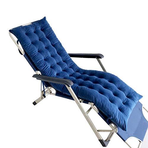GWFVA Sun Lounger Suede Cuscino di Ricambio per Giardino Cuscino per mobili Cuscino Cuscino Relax reclinabile (Solo Cuscino), Blu scuro-125 * 48 * 8 cm
