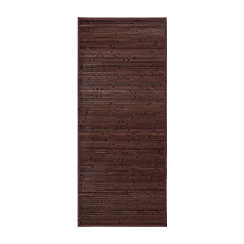 Alfombra para salón de bambú (75 x 175 cm, Chocolate)