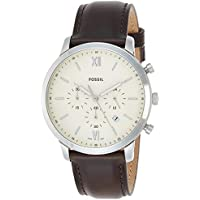 Fossil Men's Neutra Chronograph Stainless Steel Watch (Silver, Brown)