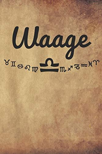Waage: Sternzeichen Waage - A5 - 120 Seiten Dot Grid (gepunktet) | Notizbuch | Tagebuch | Tagesplaner | Wochenplaner | Planer | Sketchbook | Geschenk