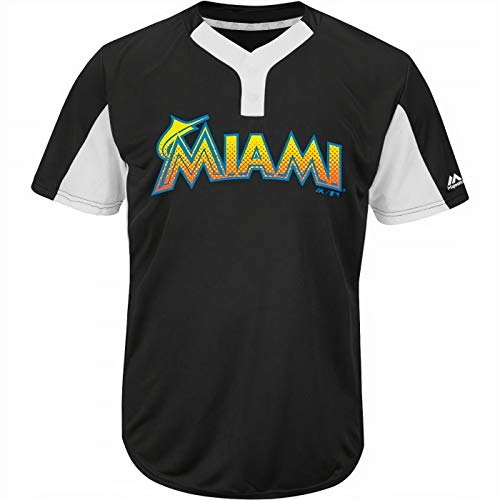 Miami Marlins Premier Eagle Cool Base Youth 2-Button Jersey Medium