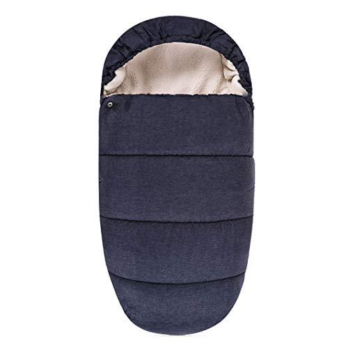 DROMEZ Cochecito de Bebé Saco de Dormir,Bolsa de Dormir Invierno Universal para Silla de Paseo con Protección Antideslizante,Adecuado para Bebes Recien Nacido a 24 Meses,Azul,90 * 48cm
