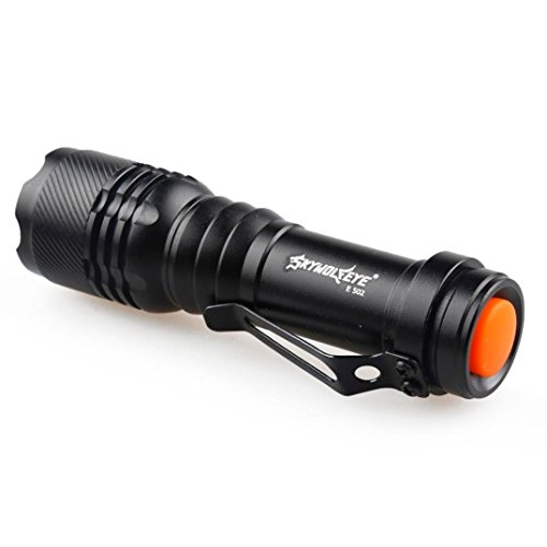 Sungpunet LED-Taschenlampe, 5000 lm, Cree Q5 AA/14500, 3 Modi, sehr hell