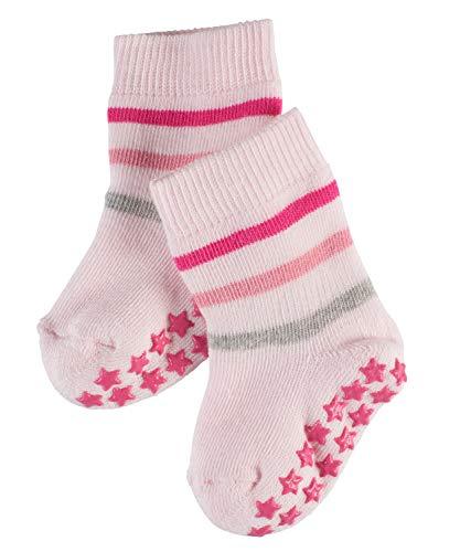 FALKE Baby Stoppersocken Multi Stripe Catspads - 86% Baumwolle, 1 Paar, Rosa (Powder Rose 8902), Größe: 74-80