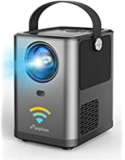 ELEPHAS WiFi プロジェクター 4800lm 1920×1080最大解像度 スマホと直接接続 変換ケーブル不要 Bluetoothスピーカー機能 スマホ/パソコン/TV Stick/PS4/Switchゲーム機/DVDプレヤーなど接続可