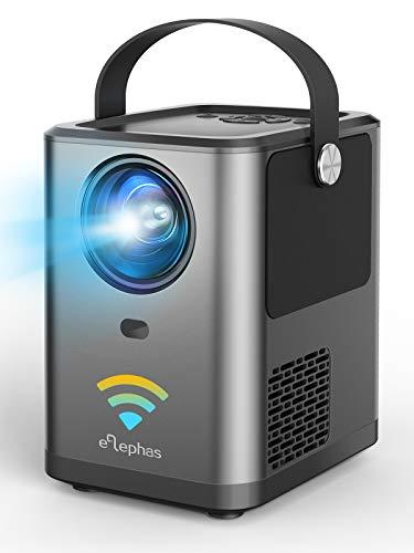 ELEPHAS WiFi プロジェクター 4800lm 1920×1080最大解像度 スマホと直接接続 変換ケーブル不要 Bluetoothスピーカー機能 スマホ/パソコン/TV Stick/PS4/Switchゲーム機/DVDプレヤーなど接続可【2021最新版】