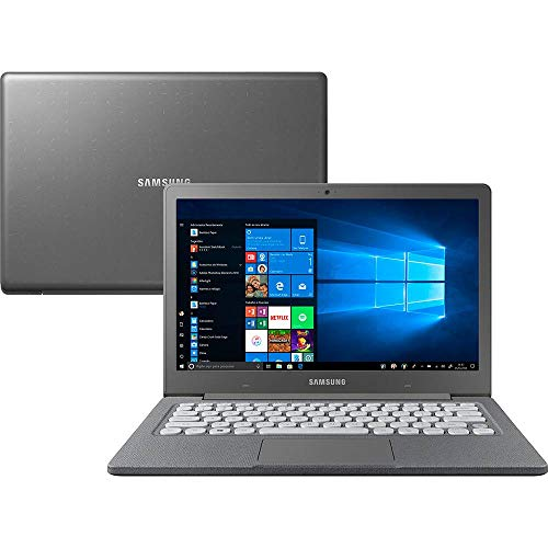 "Notebook Samsung Flash F30 Intel Celeron , 4GB RAM, 64GB SSD , Tela Full HD 13.3"", Windows 10 - Cinza"