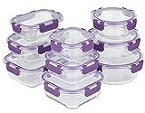 Home Planet Recipientes de Cristal Para Alimentos | Tapers de Cristal | Recipiente Cristal | 18 Piezas | Tapas Mejoradas | SIN envases de plástico | Sin BPA | Recipientes Hermeticos Alimentos