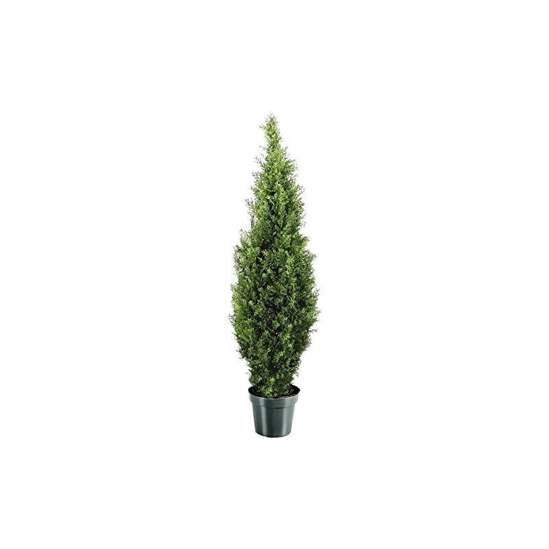 silk flower arrangements national tree company artificial shrub includes pot base arborvitae-48, 48-inch, green