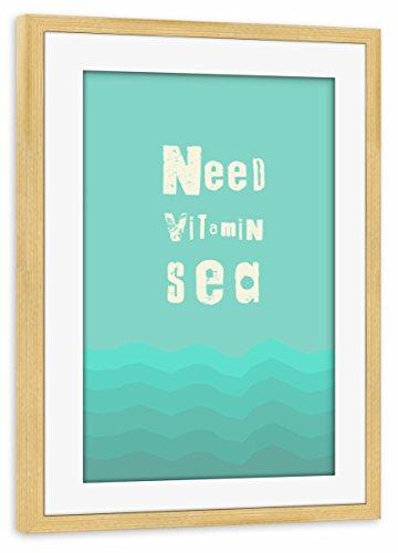 artboxONE Poster mit Rahmen Kiefer 75x50 cm Vitamin Sea von Mia Nissen - gerahmtes Poster