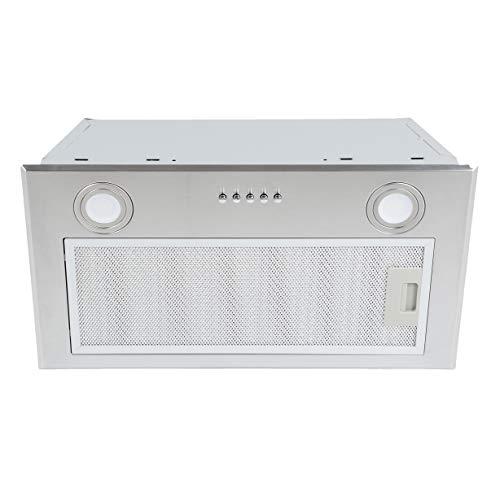 K&H® 60cm Dunstabzugshaube, Einbauhaube, LED, 500 m³/h, Edelstahl, Energieklasse B, UEH02-52BS