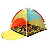 LittleTom Tienda de campaña Juguete 122x122x107cm Piscina de Bolas Multicolor