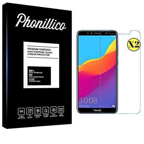 PHONILLICO [Pack de 2] Verre Trempe Huawei Honor 7A - Film Protection Ecran Verre Trempe [Lot de 2] Vitre Ecran Protecteur Anti Rayure Ultra Mince Transparent