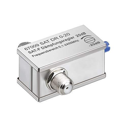 Wentronic - Atenuador (0-20 dB, conector F a conector F, 0,1-2400 MHz) (importado)