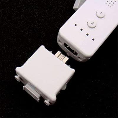 OSTENT Motionplus Motion Plus + Silicone Case Compatible for Nintendo Wii Remote Controller Game Color White