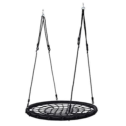 ZCXBHD Outdoor schommel reuzennest web touw hangende boom ronde heavy duty eenvoudig in te stellen 100 cm kinderen outdoor tuin schommel voor kinderen en volwassenen