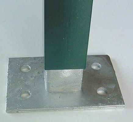 ITALFROM Zaunpfosten zu T aus verzinktem Eisen bei Caldo-Sezione mm30X30X3,5-H/öhe 175 cm 2245