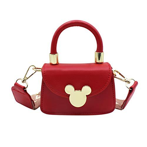 Little Girls Crossbody Purse Cute Handbag Tote Bag Fashion Mini Satchel Toddler Kids Shoulder Bag - Red - One size