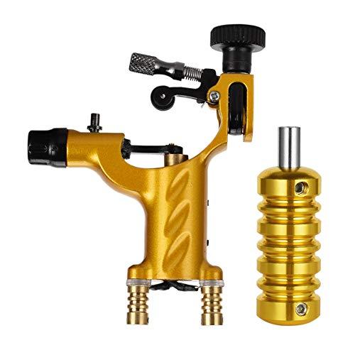 ATOMUS Rotary Tattoo Machine Tattoomaschine Tätowierung Maschine mit Griffe Kits (gold)