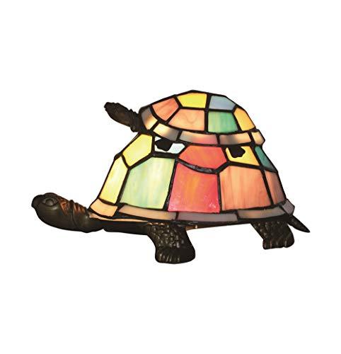Estilo Europeo Creativo Colorido Madre y niño Tortuga Tortuga Cuckold Lámpara de mesa Lámpara para niños Luz nocturna