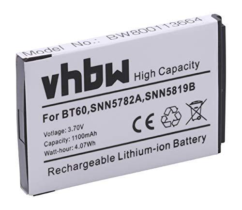 vhbw Li-Ion batería 1100mAh (3.7V) para teléfono móvil Smartphone Motorola CLP1060, CLP446, Evoke QA4, Flipout por BT60, HKNN4014, SNN5762