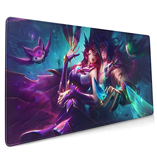 Xayah LOL League Legends Gaming Mouse Pad, Large Mouse Pad Keyboard Pad Mouse Mat Desk Pad with Non-Slip Base and Stitched Edge for Pc Notebook Home Office Work