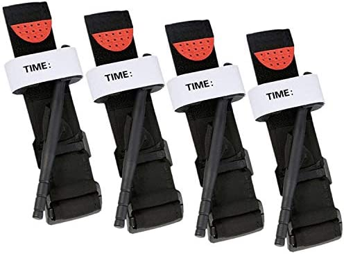 Tourniquets 4 Pack Emergency Outdoor Tourniquet First Aid Tactical Life Saving Hemorrhage Control product image