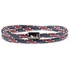 HIGHEST QUALITY - Braided bracelets are made of highest quality nautical rope and high grade stainless steel magnetic clasp. HANDCRAFTED TO PERFECTION - Our unique double wrapped rope bracelets are carefully handmade in Europe. A combination of simpl...